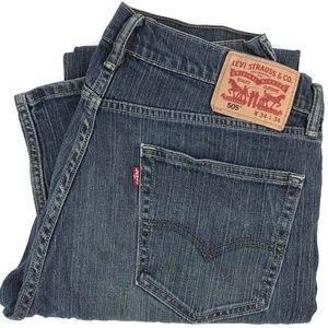 Levi's 505 Regular Straight Fit Denim Jeans 33x32